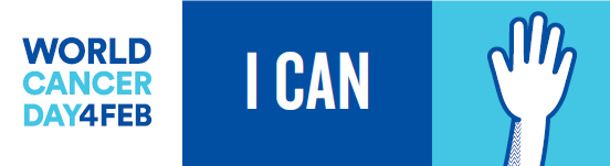 World Cancer Day I Can - A single hand raised
